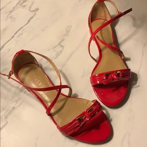 Talbots | Red Patent Leather Sandals | 6.5